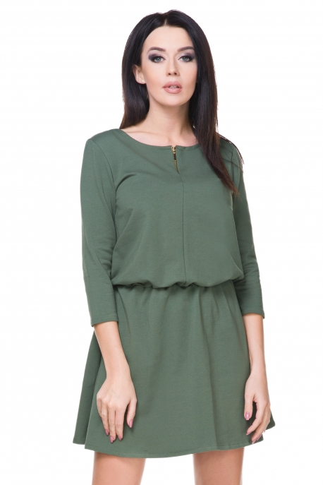 Stilinga žalia suknelė