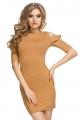 Rusvos spalvos suknelė