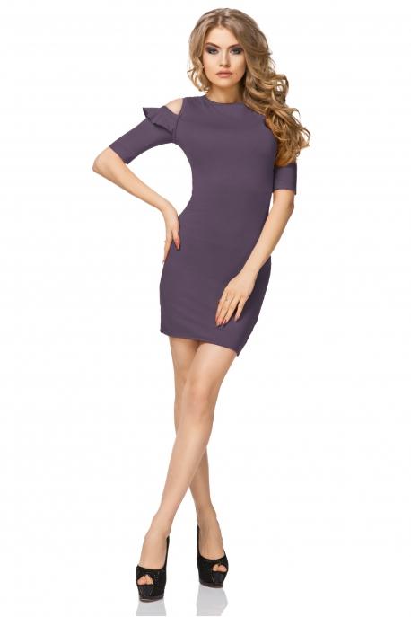 Violetinės spalvos suknelė