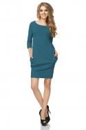 Turkio spalvos laisvalaikio suknelė