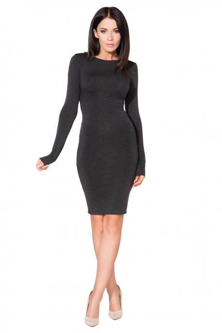 Gundanti tamsiai pilka suknelė