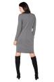 Pilka suknelė su nuimama apykakle