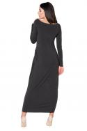 Ilga tamsiai pilka suknelė