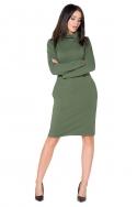 Žalia suknelė ilgu kaklu