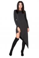 Pilka asimetrinio kirpimo suknelė