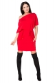 Raudona suknelė su kišenėmis