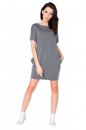 Pilka laisvalaikio suknelė