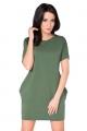 Žalia laisvalaikio suknelė