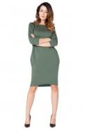 Žalia laisvo kirpimo suknelė