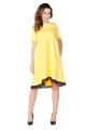 Geltona suknelė su nėriniais