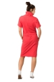 Koralinė sportinio stiliaus suknelė