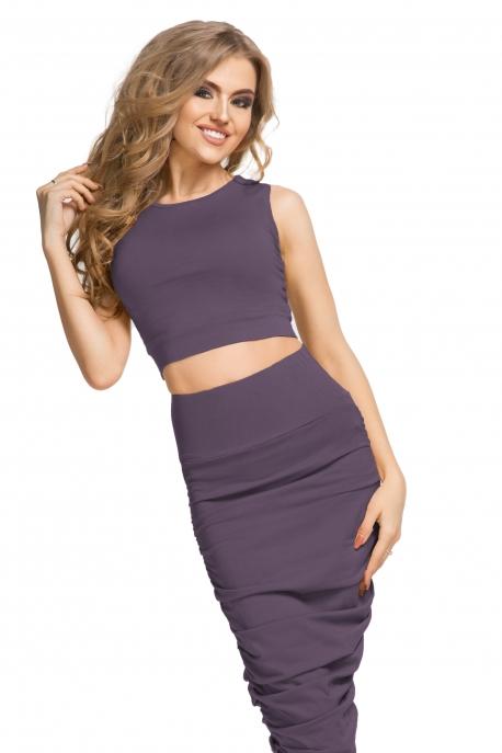 Trumpa violetinė palaidinė