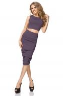 Violetinės spalvos sijonas