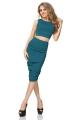 Melsvos spalvos sijonas