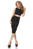 Juodos spalvos sijonas