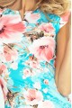 132-8 dress with cut-out - Peach flowers