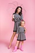 Pilka suknelė mergaitei