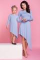 Pilkšva asimetrinio kirpimo suknelė