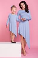 Melsva asimetrinio kirpimo suknelė mergaitei