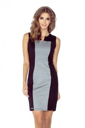 Two-color dress - black + gray MM 006-3