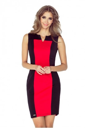 Two-color dress - black + red MM 006-1