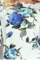 Sporty dress - colored large blue flowers 13-65