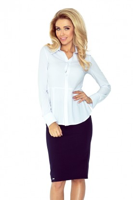 White blouse - buttons MM 016-4