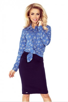 Shirt with pockets - jeans + hearts MM 018-2