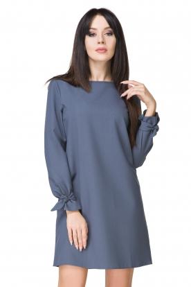 Puošni mėlyna suknelė