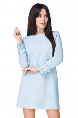 Melsva suknelė su puošniomis rankovėmis