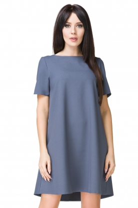 Mėlyna laisvalaikio suknelė