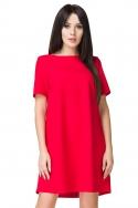 Raudona laisvalaikio suknelė