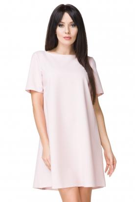 Rausva laisvalaikio suknelė