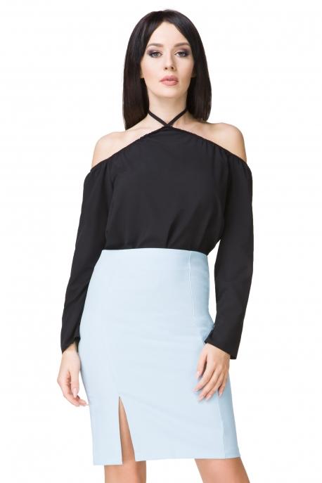 Elegantiškas melsvas sijonas