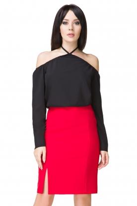 Elegantiškas raudonas sijonas