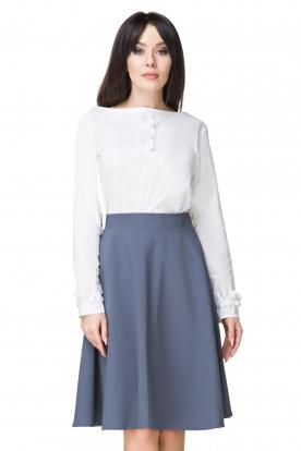 Mėlynas klostuotas sijonas