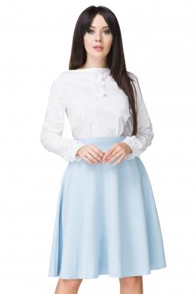 Melsvas klostuotas sijonas