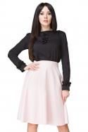 Rausvas klostuotas sijonas