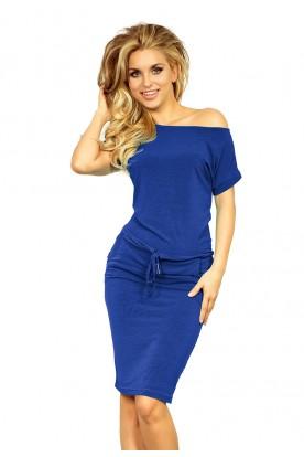 Short sleeve sport dress - Blue 139-3