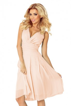 Chiffon dress - the color Pink 35-11
