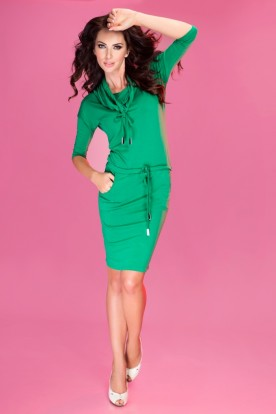 Sports dress with binding - Green 44-5
