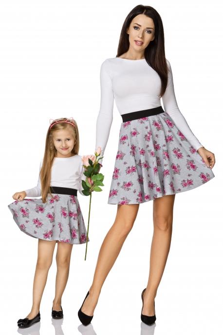 Gėlėtas sijonas mergaitei
