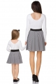 Dryžuotas sijonas mergaitei