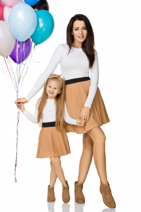 Rudas sijonas mergaitei