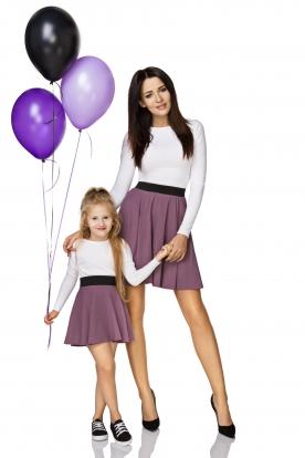 Violetinis sijonas mergaitei