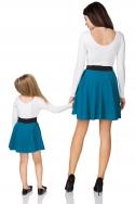 Smaragdinis sijonas mergaitei