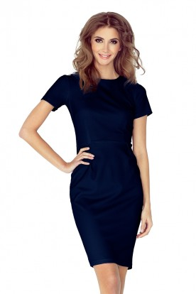 150-1 Dress DOROTA - Navy Blue