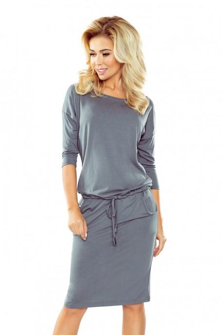 13-75 Sporty dress - dark Grey