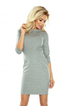 LENA elegant dress - pepper and salt 154-2