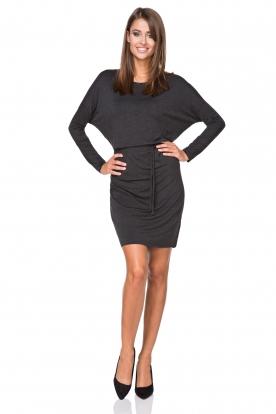 Stilinga tamsiai pilka suknelė